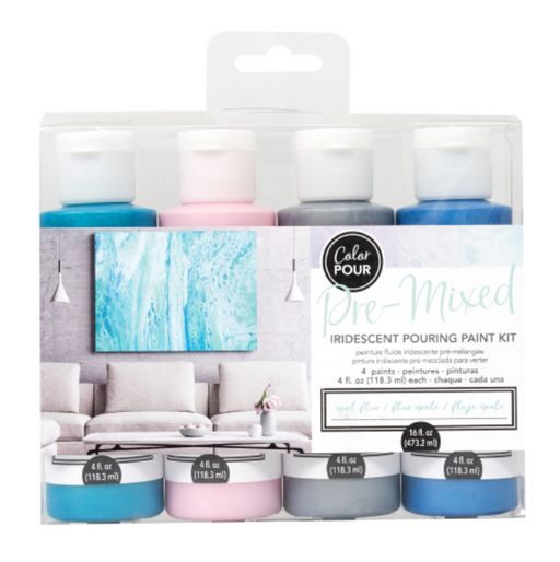 Opal Flux Pre-mixed Pouring Paint kit