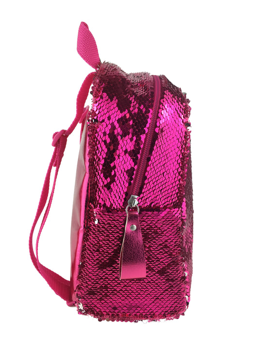 Harlequin Shimmer Backpack- Hot Pink