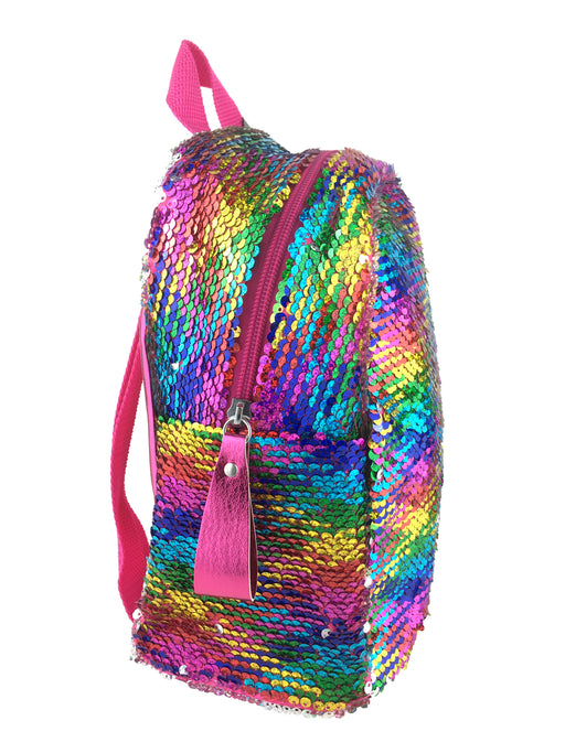 Harlequin Shimmer Backpack- Rainbow