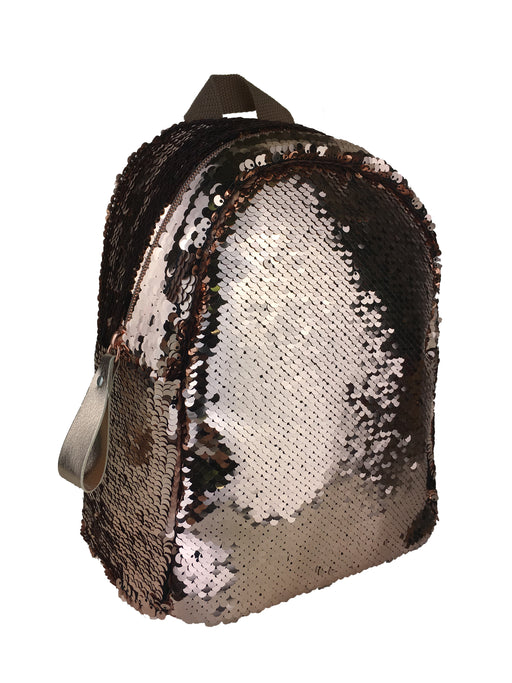 Harlequin Shimmer Backpack- Rose Gold
