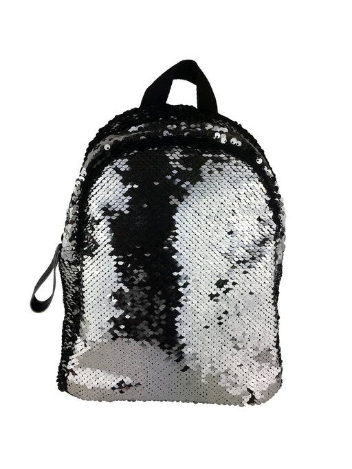 Harlequin Shimmer Backpack- Silver