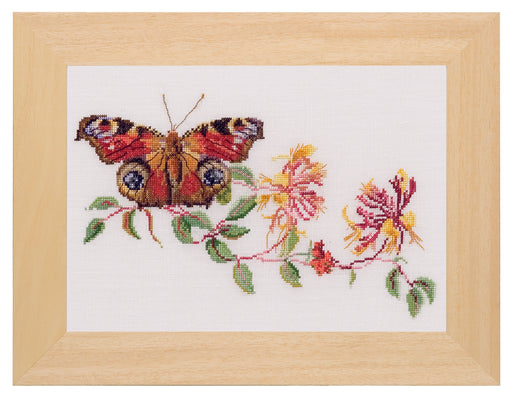 Butterfly Honeysuckle cross-stitch