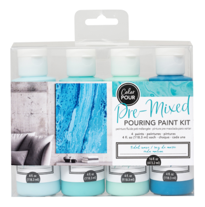 Tidal Wave Pre-mixed Pouring Paint kit