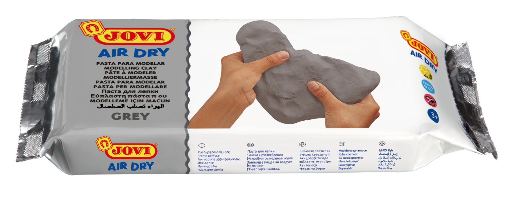 Jovi Air Dry Clay Grey 250gsm
