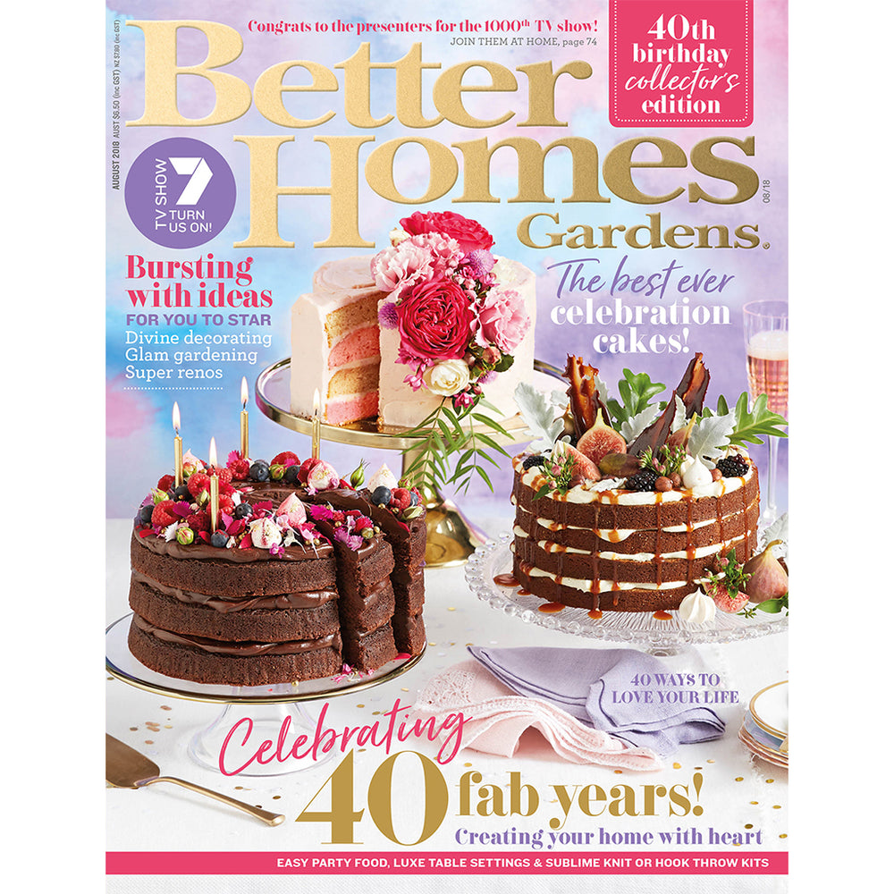 Better Homes and Gardens - August 2018