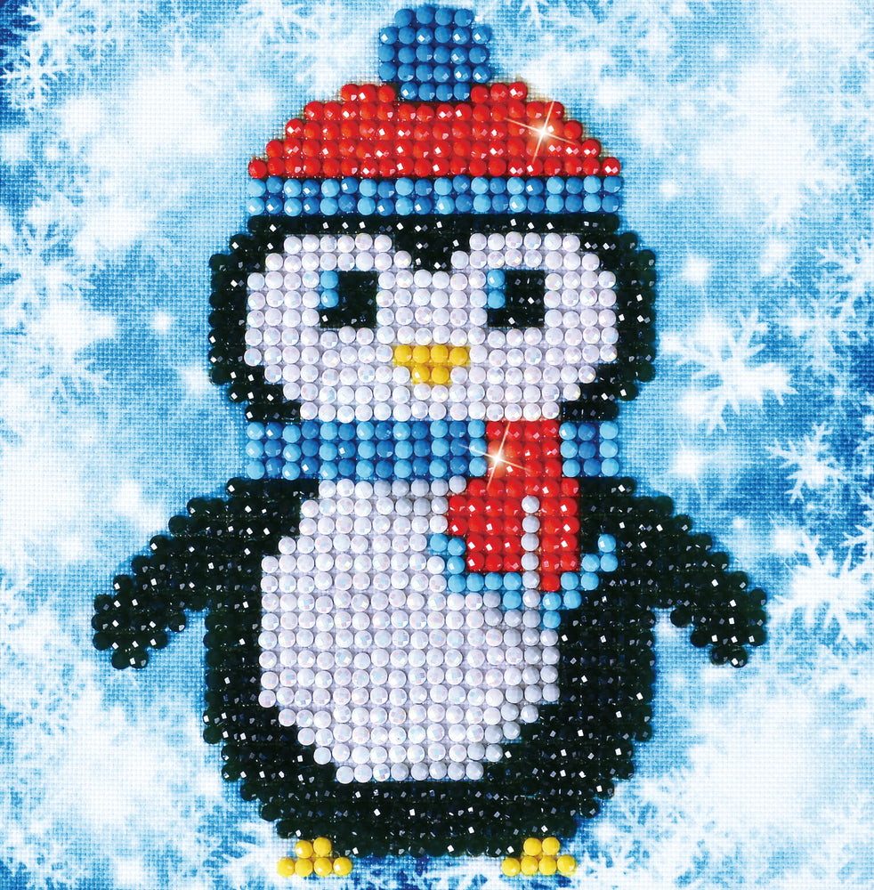 Diamond Dotz Christmas Penguin Picture
