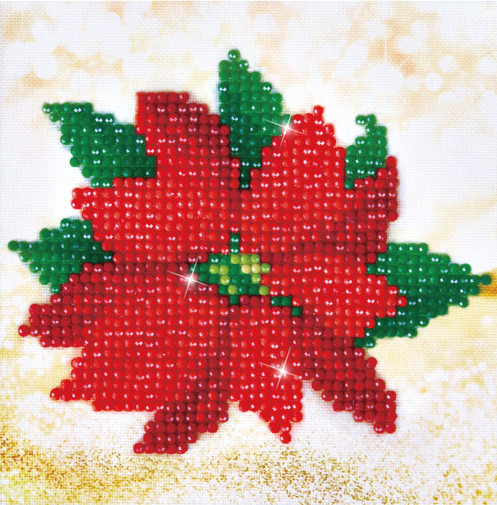 Diamond Dotz Poinsettia Picture