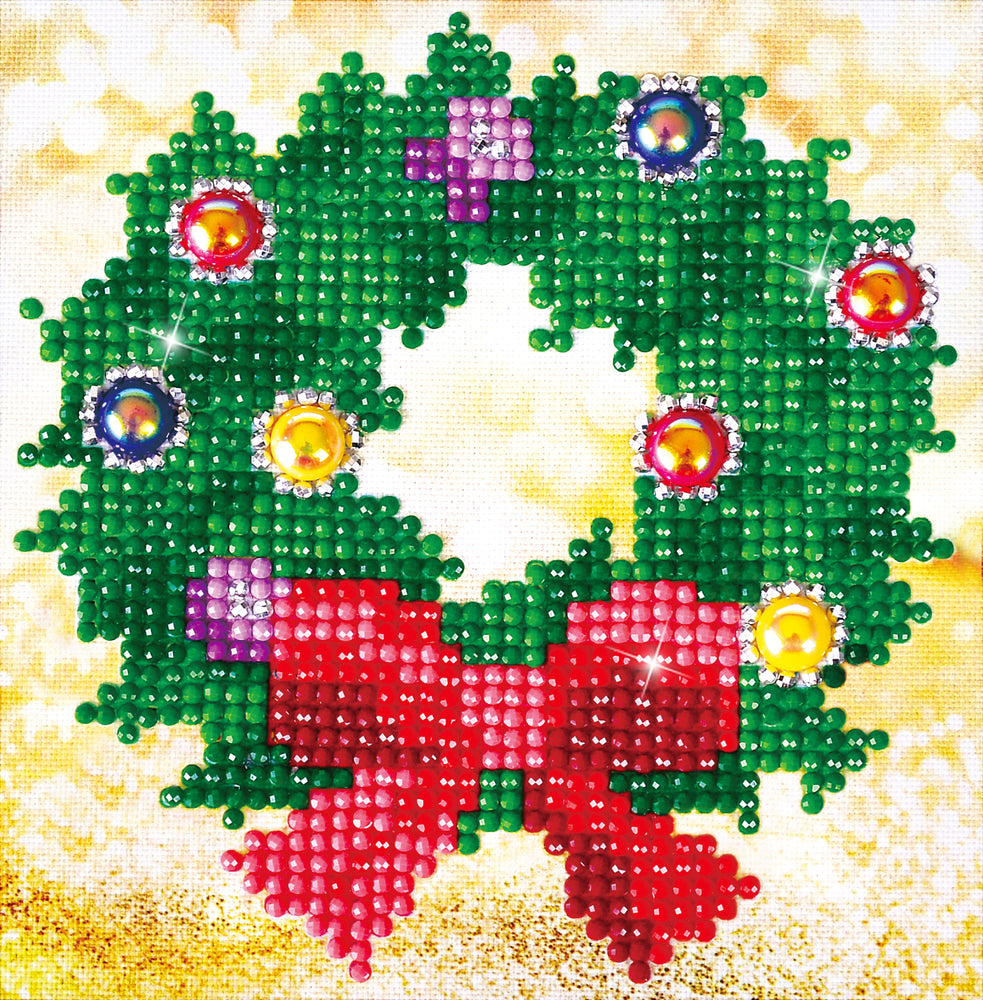 Diamond Dotz Christmas Wreath Picture
