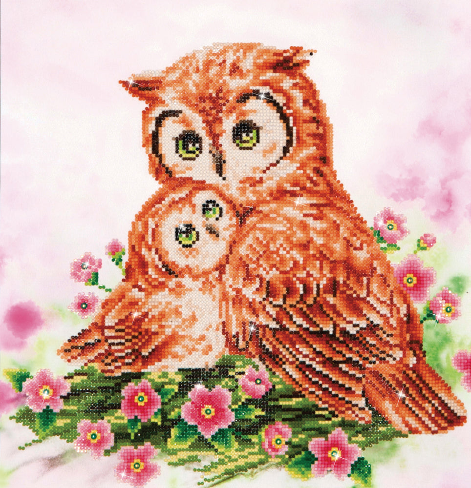 Diamond Dotz Mother And Baby Owl