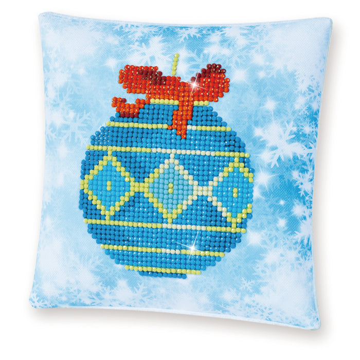Diamond Dotz Blue Bauble Pillow