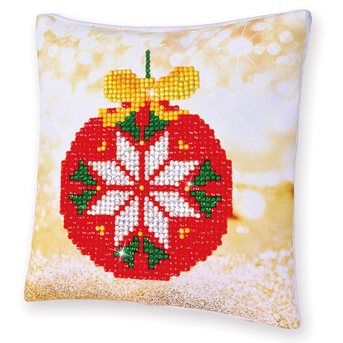 Diamond Dotz Red Bauble Pillow