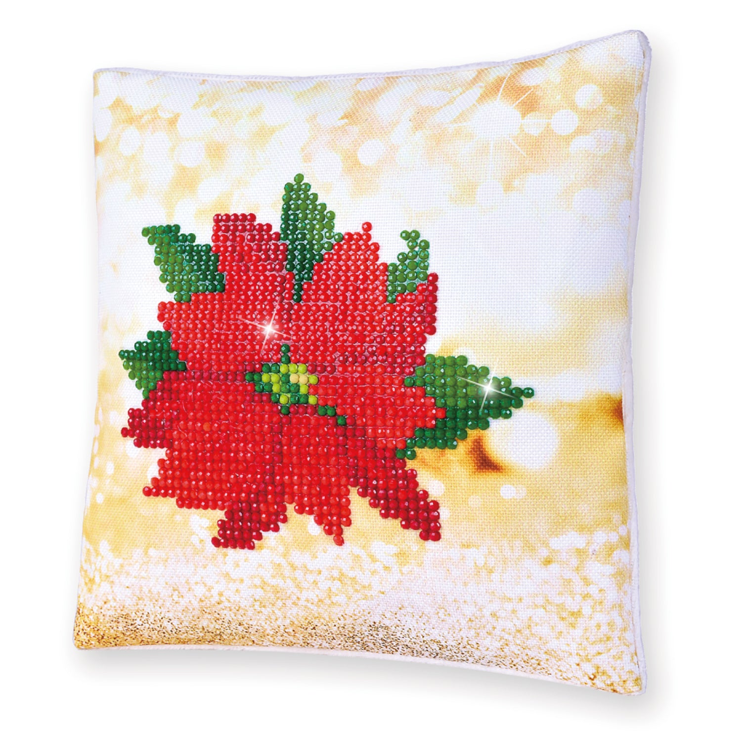 Diamond Dotz Poinsettia Pillow