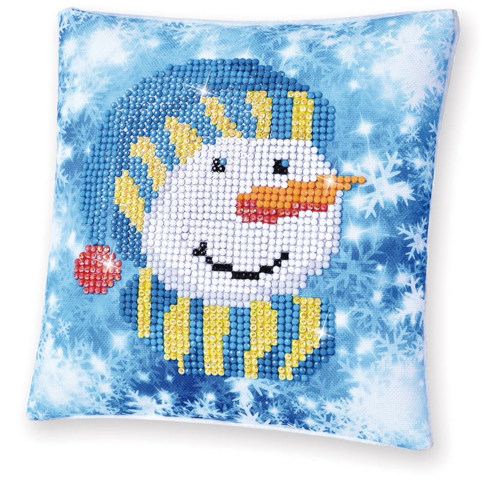 Diamond Dotz Snowman Cap Pillow