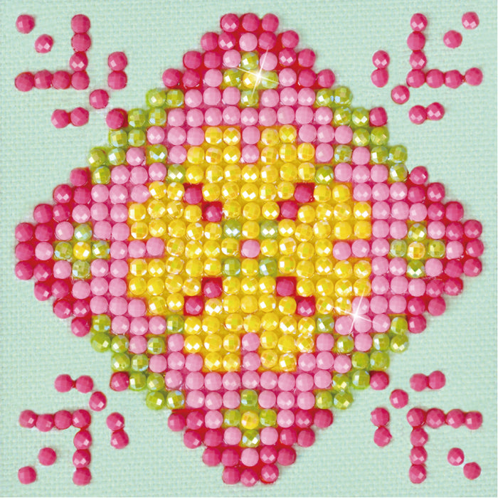 Diamond Dotz Patchwork Mandala Pink & Yellow
