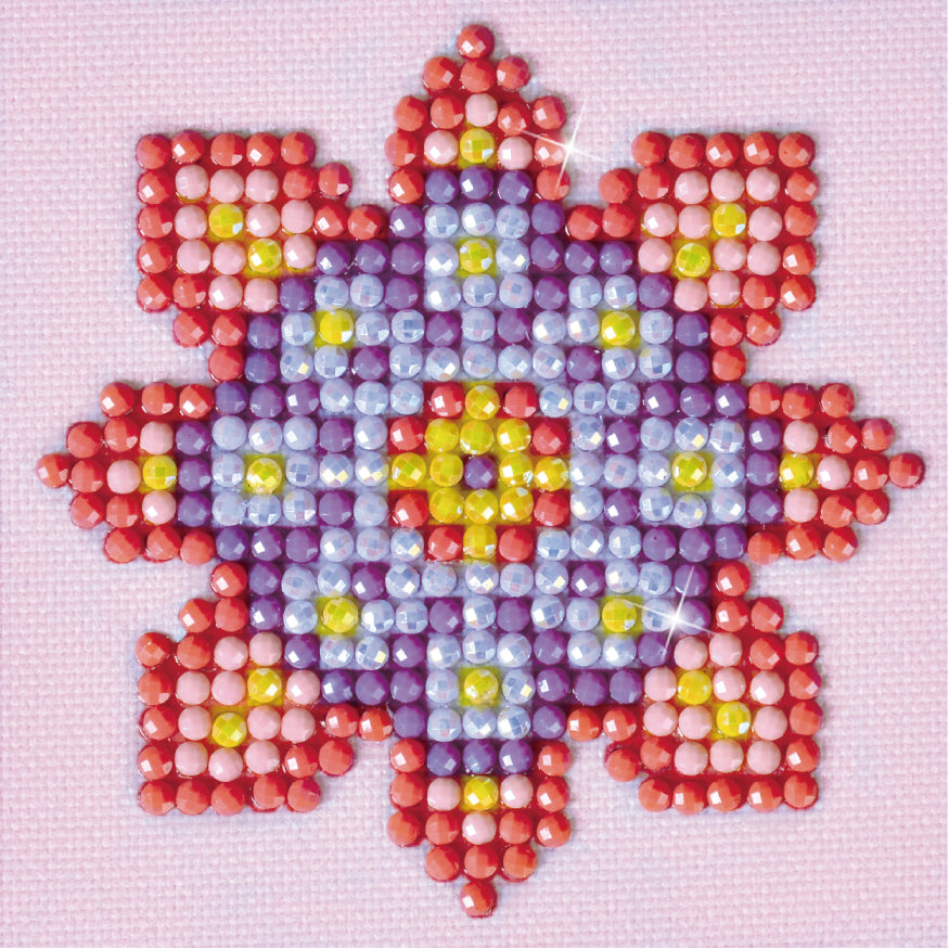 Diamond Dotz Flower Mandala Pink & Purple