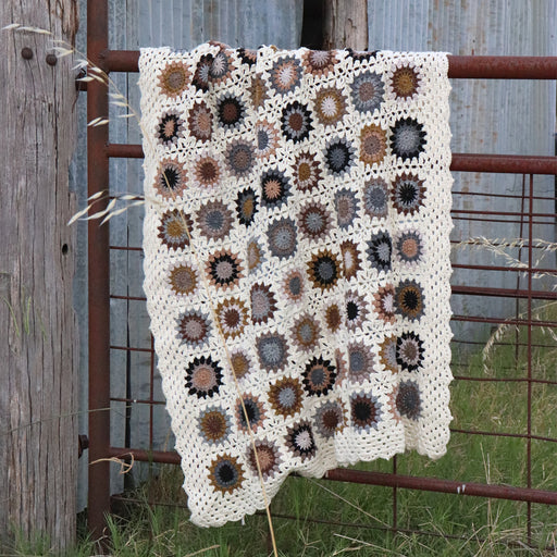 Ebony and Ivory Crochet Blanket Kit