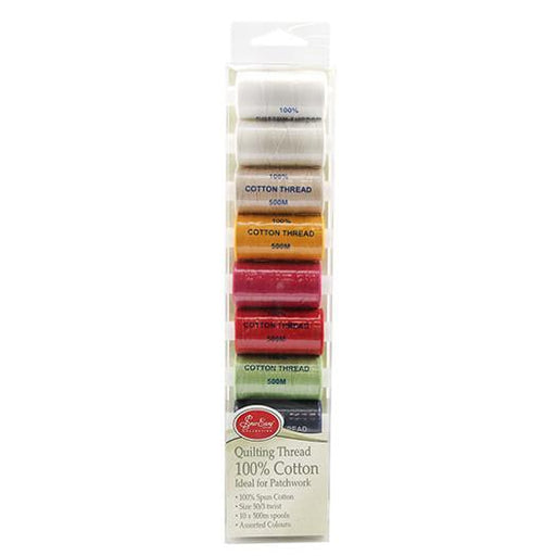 Quilting Thread 500m x 10 Colours