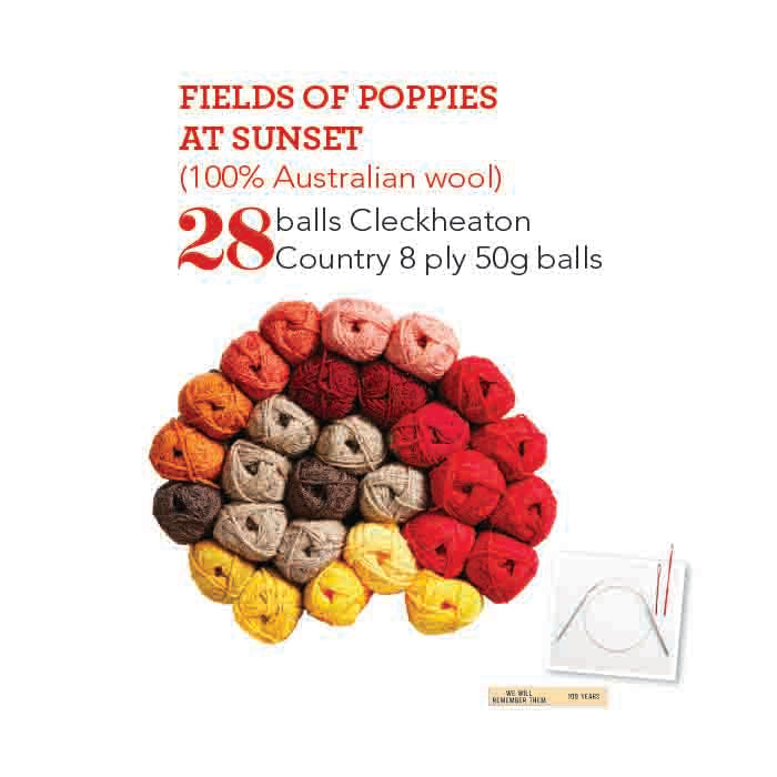 Fields of Poppies at Sunset - Wool Kit