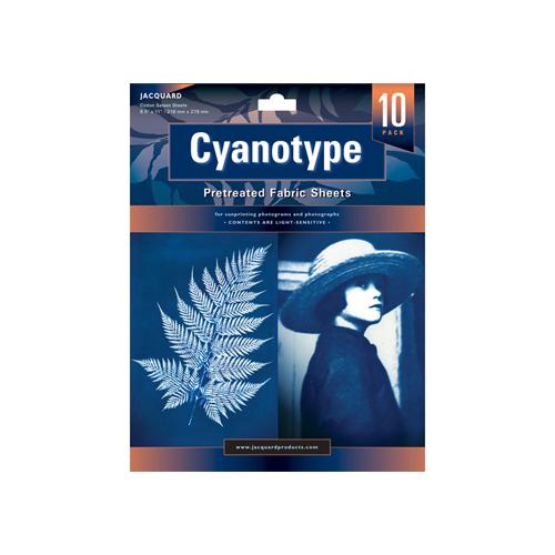 Cyanotype 10 Pack Pretreated Fabric sheets