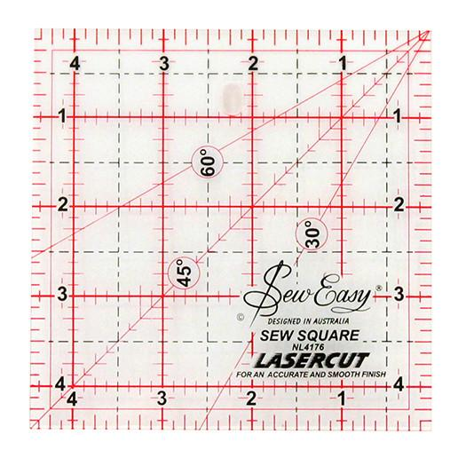 Ruler Square 4.5in x 4.5in