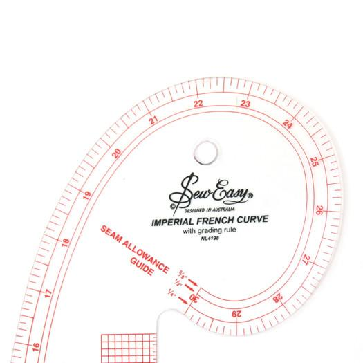 Ruler French Curve  Imperial