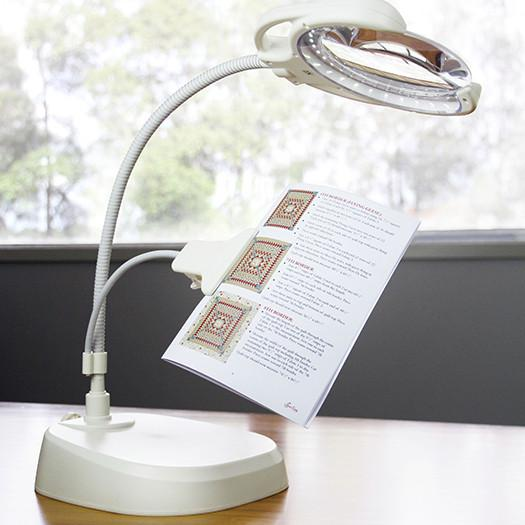 Led Rechargeable Lamp W Magnifier And Clip Arm