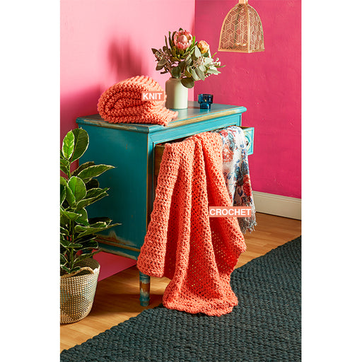 Mighty Easy Chunky Knit Kit - Coral