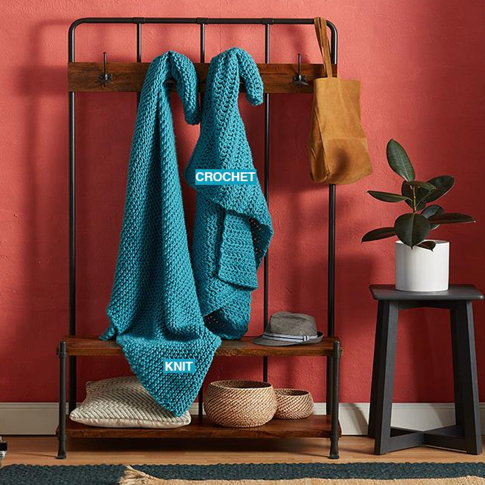 Mighty Easy Chunky Knit Kit - Turquoise