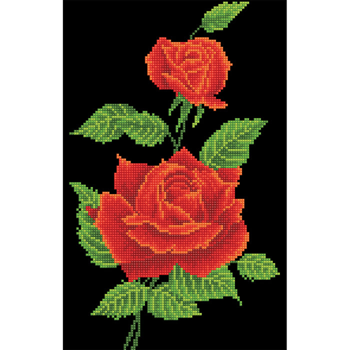 Diamond Dotz Red Rose Corsage