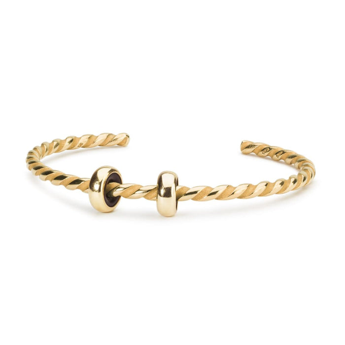 Twisted Gold-Plated Bangle
