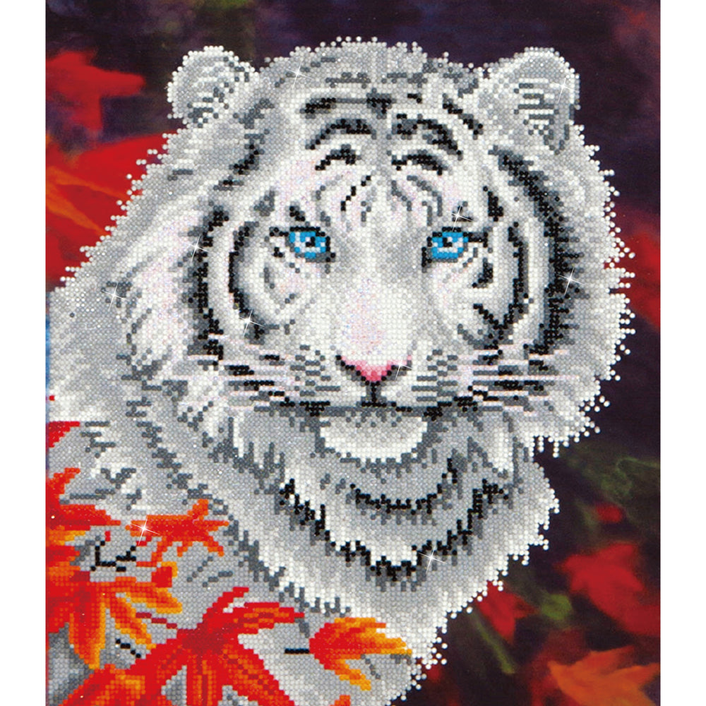 Diamond Dotz White Tiger In Autumn