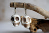 Cream skull earrings