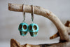 Turquenite skull earrings