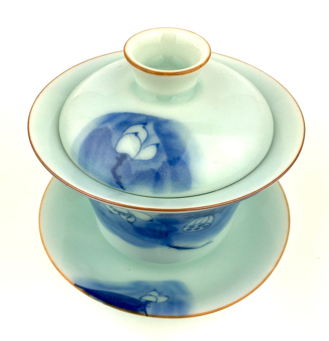 Blue Lotus Gaiwan for Kung Fu Tea