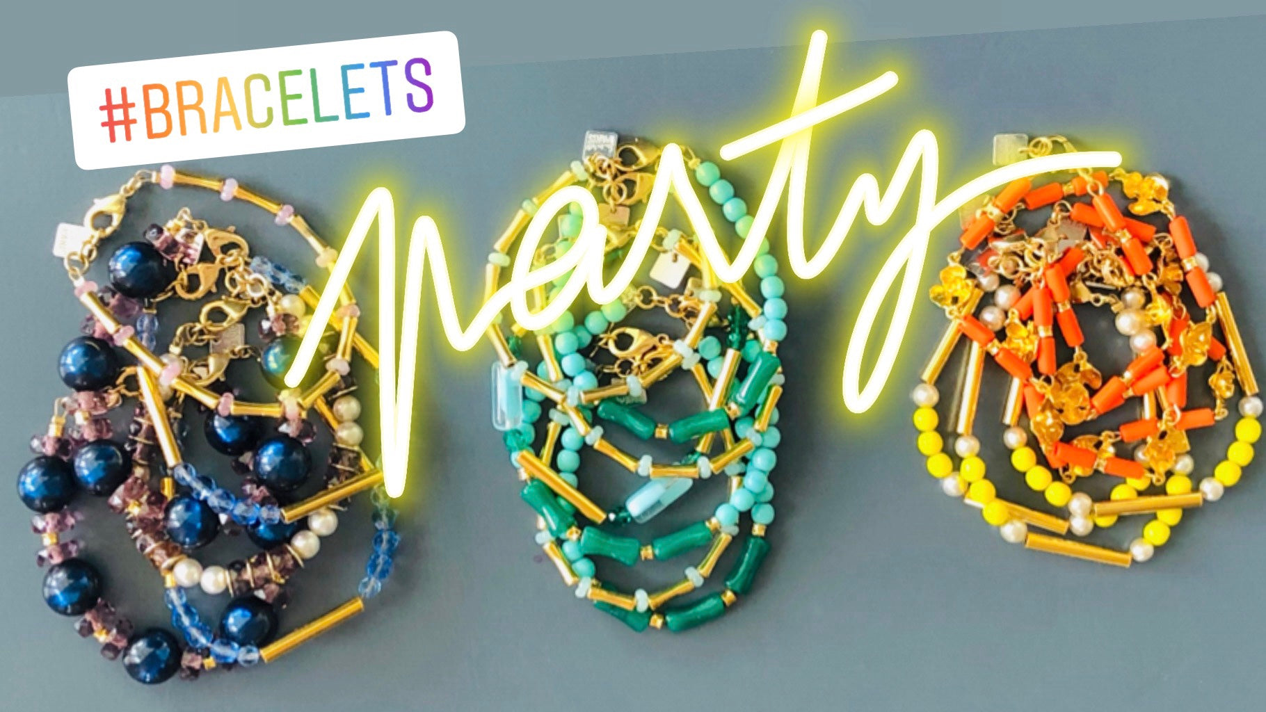 bracelets-collection-LeFaste-surlestoitsdeparis-rainbow-party