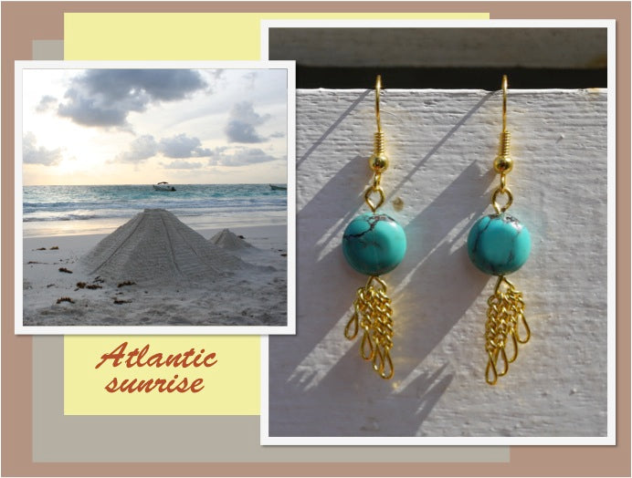Boucles d'oreilles Atlantic sunrise