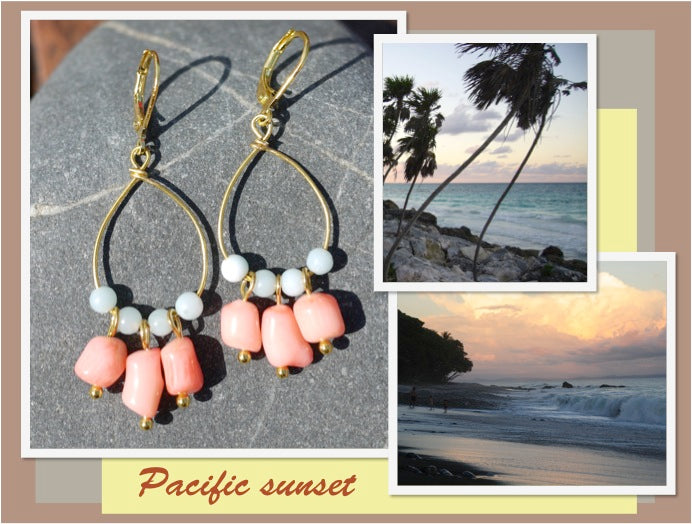 boucles d'oreilles Pacific sunset