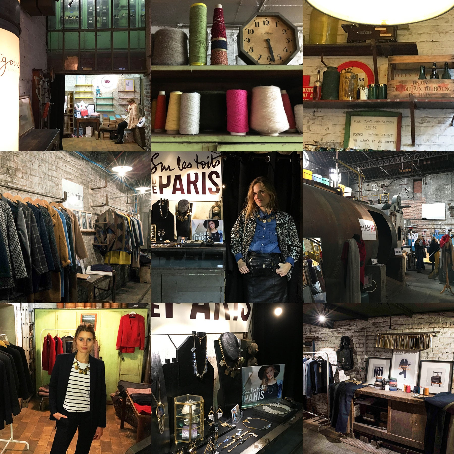 montage photos popup store Cigoire oct 2015
