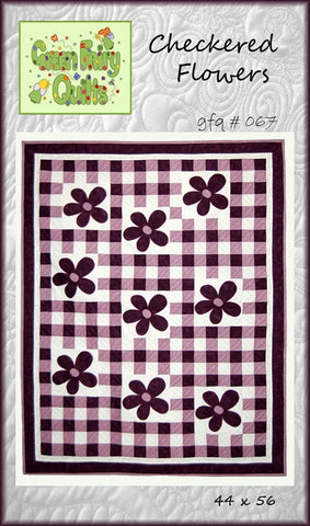 GFQ Checkered Flowers Pattern ***PDF***