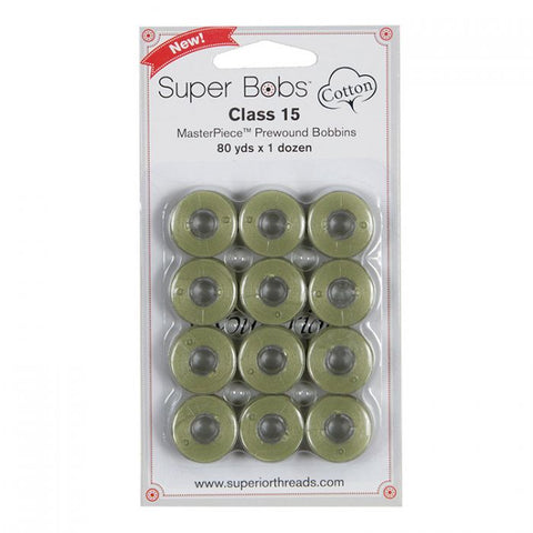 Superior SuperBobs Cotton Bobbins - #131 Monet Green (Class 15)