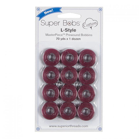 Superior SuperBobs Cotton Bobbins - #172 Plum Berry (L-Style)