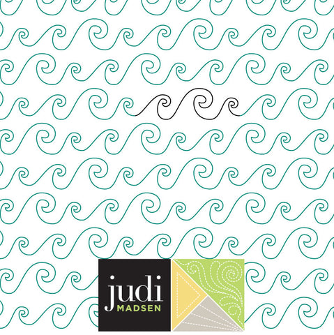 Ocean Waves Digital Design (quilting)