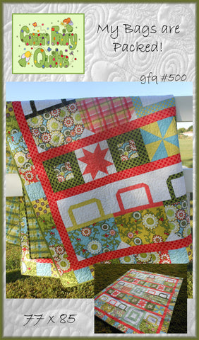 GFQ My Bags are Packed Quilt Pattern ***PDF***