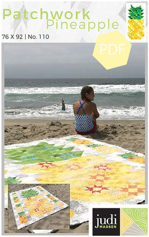 Patchwork Pineapple Quilt Pattern ***PDF***