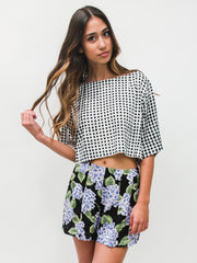 Checker Boxy Tee