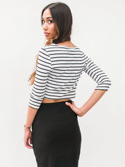 Stripe on Me Midi Shirt