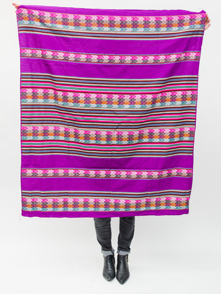 Authentic Peruvian Blanket ( Purple )