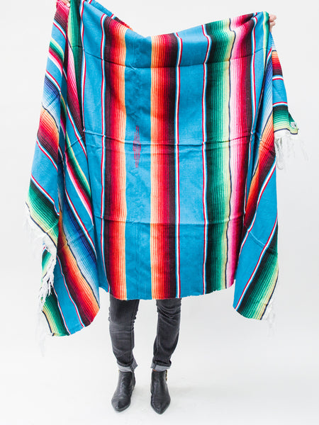 Authentic Peruvian Blanket ( BLUE / RED / GREEN )