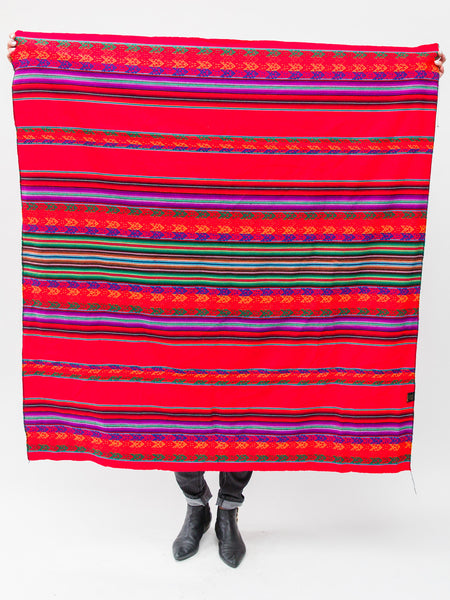 Authentic Peruvian Blanket ( Bright Red )