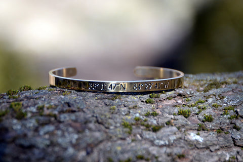 Lexington Latitude & Longitude Bracelet
